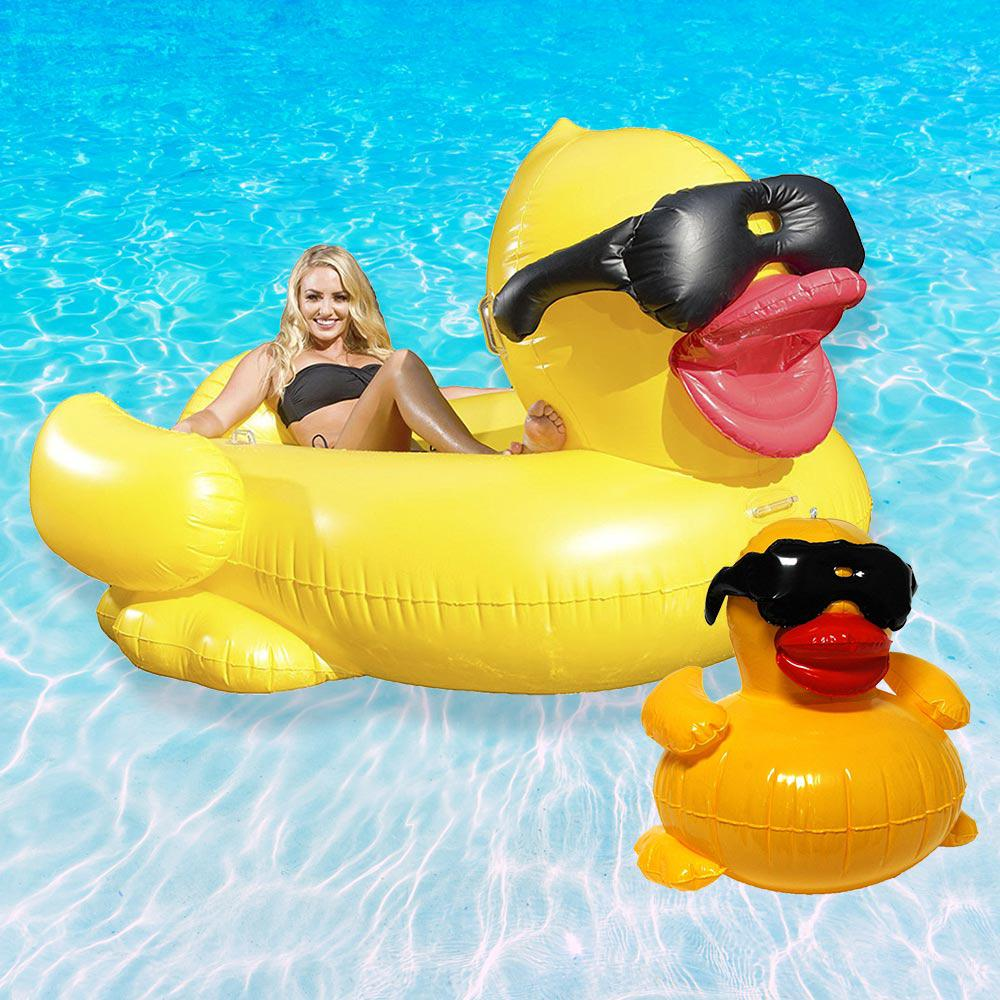 Game Derby Duck Swimming Pool Float Combo Value Pack 5000 5001 The Home Depot