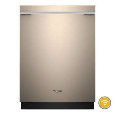 Top Control Smart Built-In Tall Tub Dishwasher with Contemporary Handle in Sunset Bronze, 47 dBA