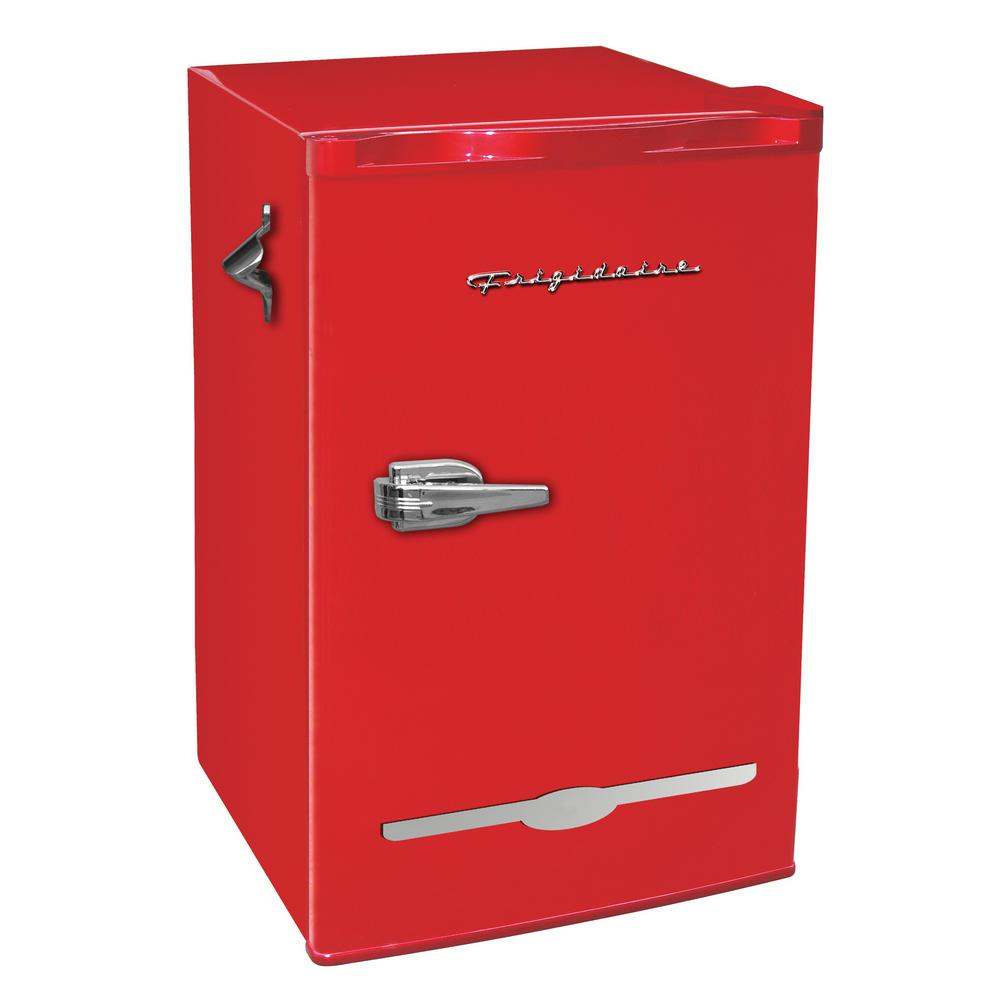 Frigidaire 3 2 Cu Ft Retro Mini Fridge In Red Efr376 Red The Home Depot