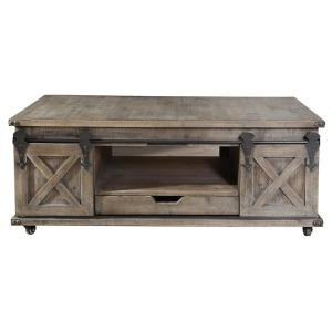 Deals on StyleCraft Presley 47 in. Driftwood Rectangle Wood Coffee Table