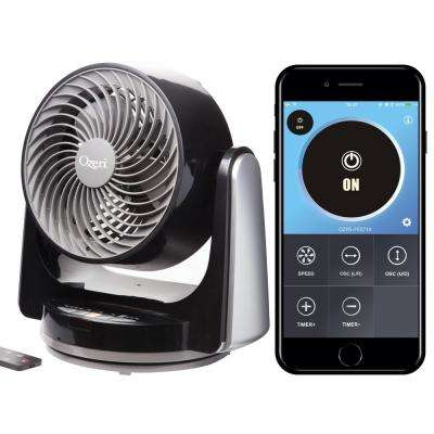 Brezza III Dual Oscillating 10 in. High Velocity Desk Fan with Bluetooth Technology