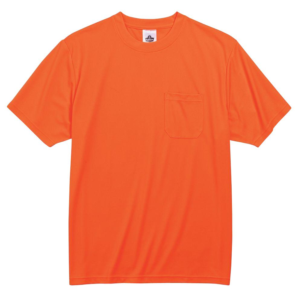GloWear Men's 2XL Orange Polyester Short Sleeve Safety Shirt