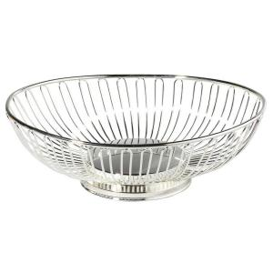 Silver Plated Oval Fruit Basket