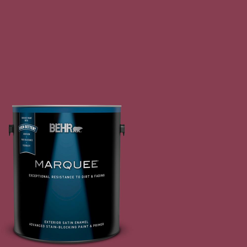 Behr Marquee 1 Gal Icc 83 Currant Jam Satin Enamel Exterior Paint And Primer In One 945301 The Home Depot