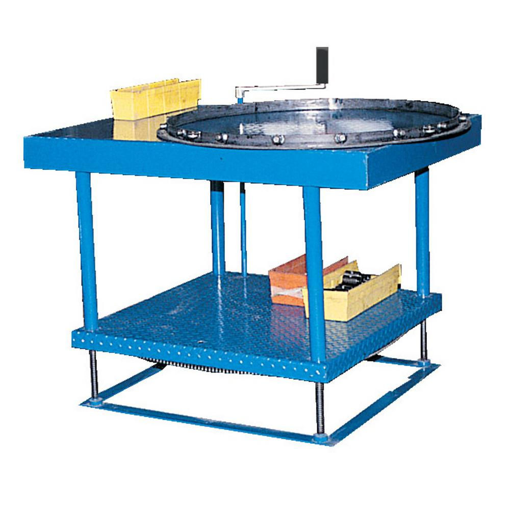 Hydraulic Work Tables : Vestil in electric hydraulic adjustable work