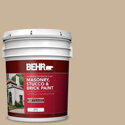 5 gal. #PPU4-07 Mushroom Bisque Flat Interior/Exterior Masonry, Stucco and Brick Paint