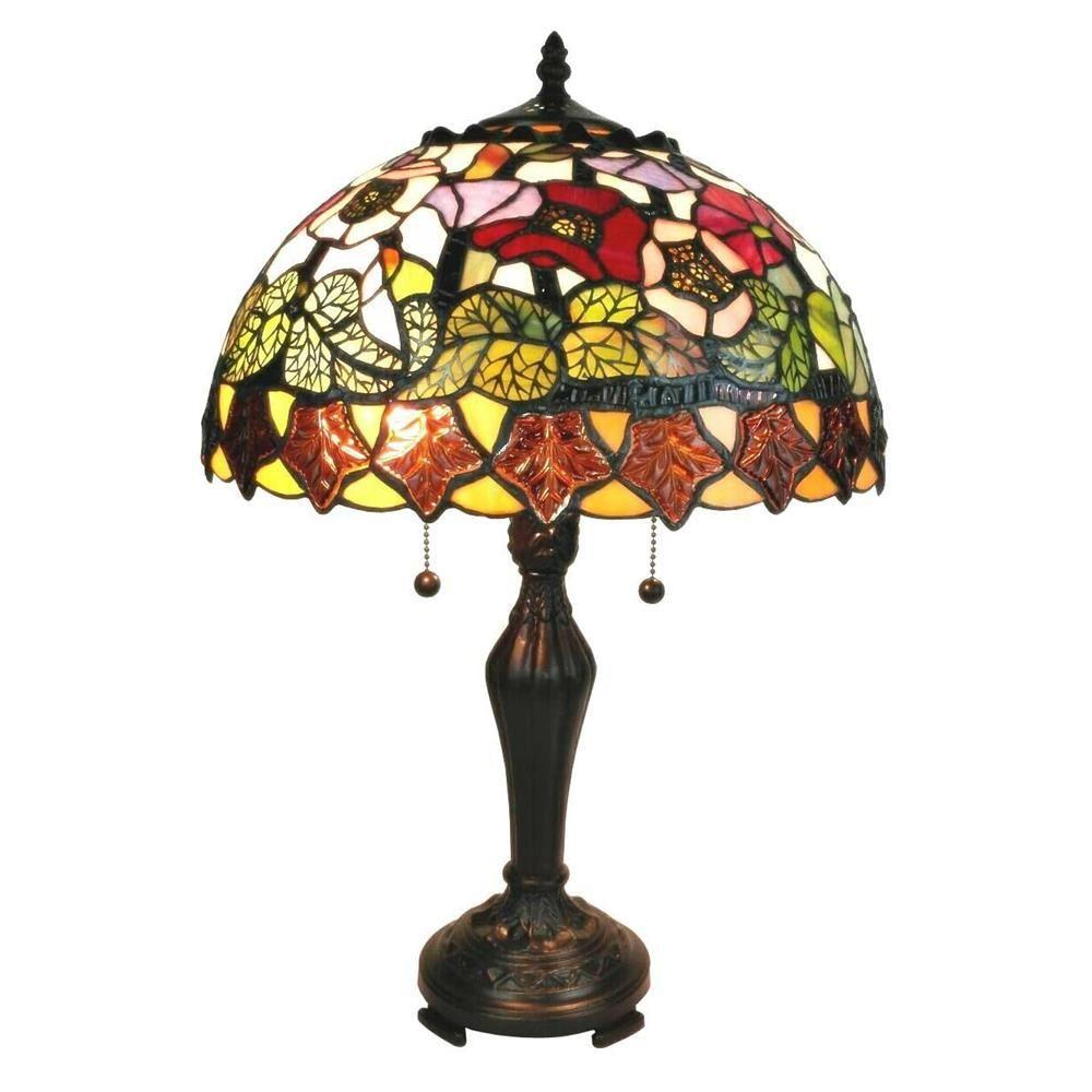 Amora Lighting 21 In Tiffany Style Poppies Table Lamp