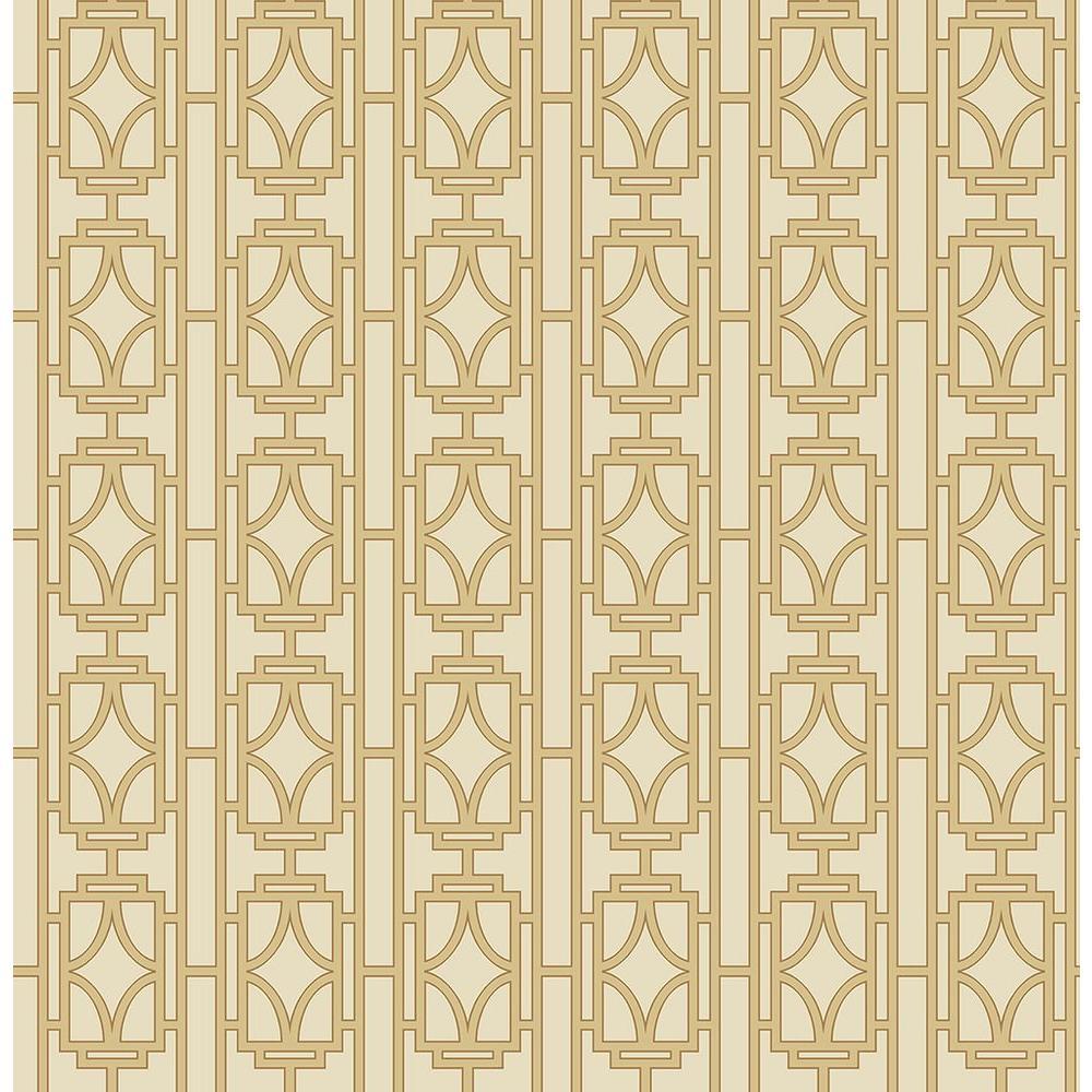Empire Sand Lattice Wallpaper Sample