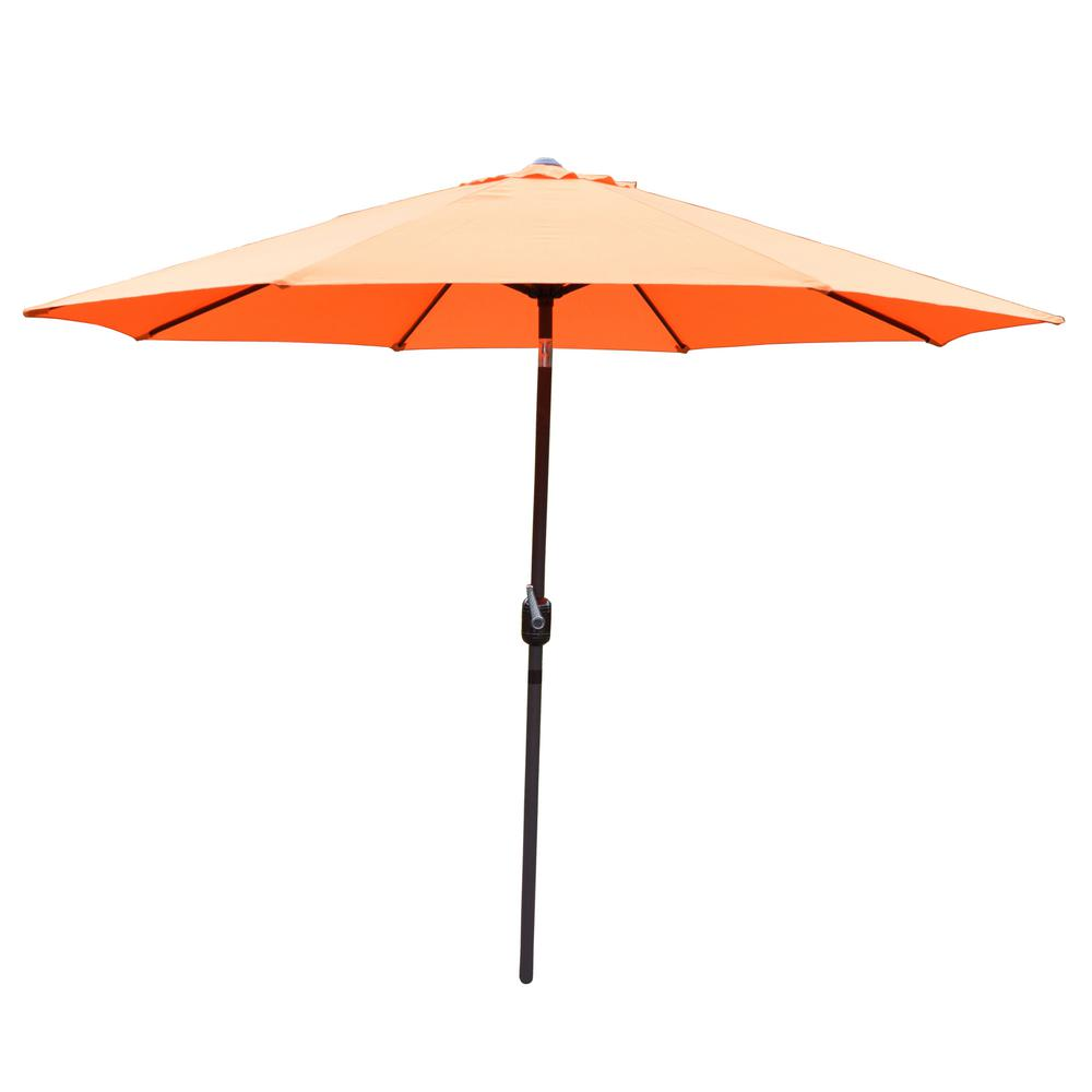 9 ft. Tilt Patio Umbrella in Orange
