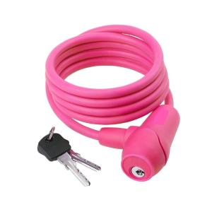 Silicon Key Bicycle Lock in Pink