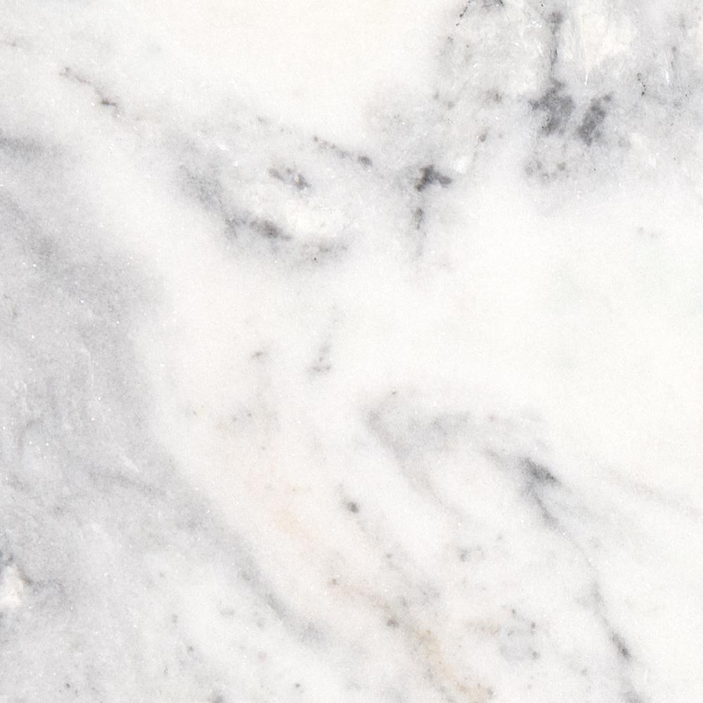 3 in. x 3 in. Marble Countertop Sample in Arabescus Carrara Marble