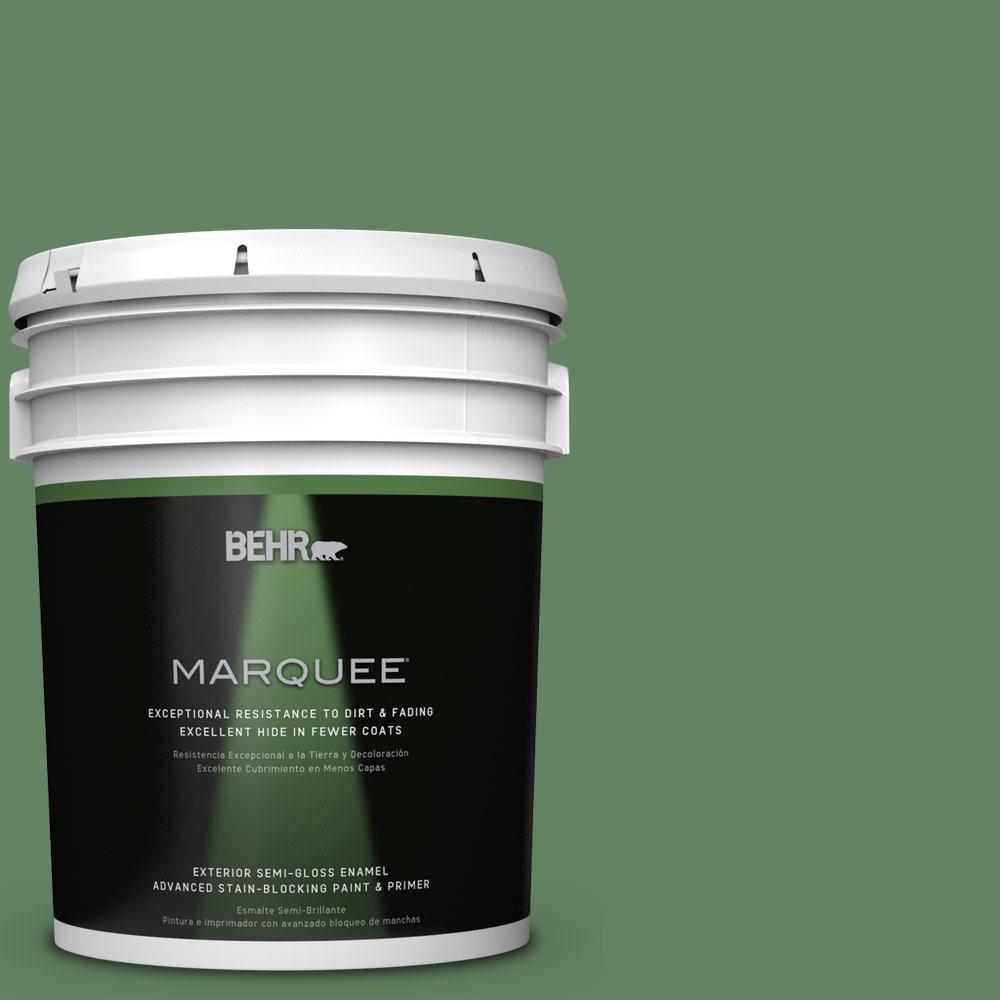 BEHR MARQUEE 5-gal. #S400-6 Tuscan Herbs Semi-Gloss Enamel Exterior Paint