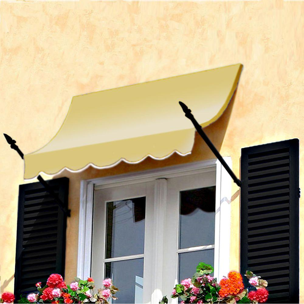 AWNTECH 4 ft. New Orleans Awning (31 in. H x 16 in. D) in Light Yellow
