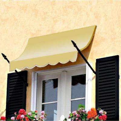 4 ft. New Orleans Awning (31 in. H x 16 in. D) in Light Yellow