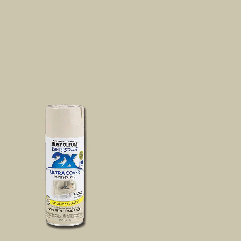 Rust-Oleum Painter\'s Touch 2X 12 oz. Gloss Almond General Purpose ...