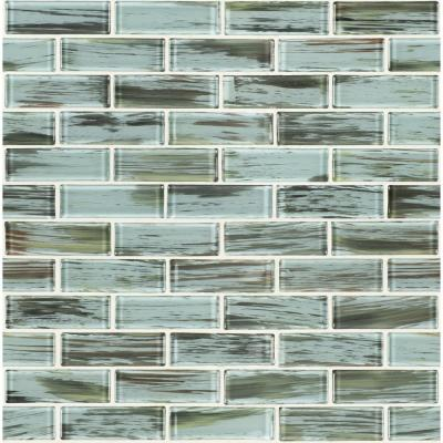 Verde Subway 11.75 in. x 12 in. x 8mm Glass Mesh-Mounted Mosaic Wall Tile (9.8 sq. ft./Case)