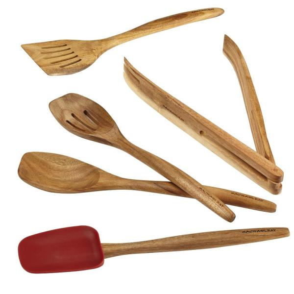 Rachael Ray Cucina Tools Red Kitchen Utensil Set (Set of 5)