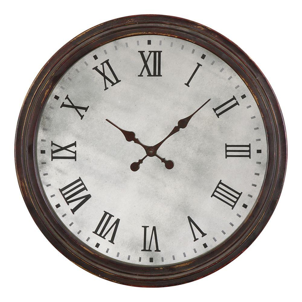 Global Direct 10 in. Antique Reproduction Round Wall Clock-DISCONTINUED