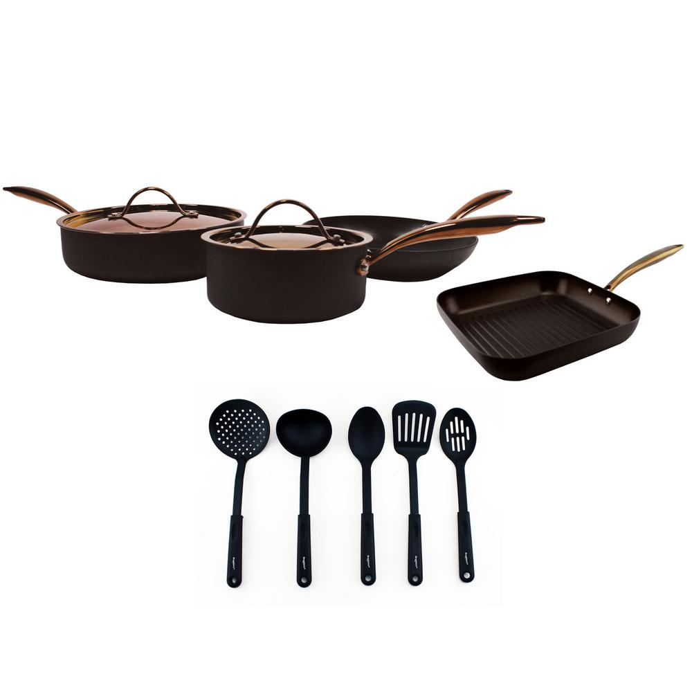 Ouro 11-Piece Black Cookware Set