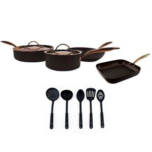 BergHOFF Ouro 11-Piece Black Cookware Set by BergHOFF