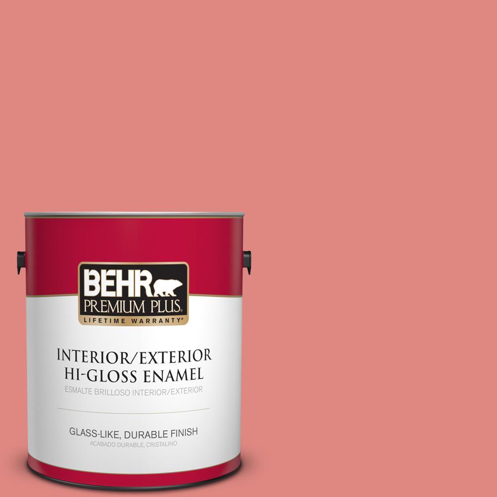 1 gal. #PPU1-4A Watermelon Punch Hi-Gloss Enamel Interior/Exterior Paint