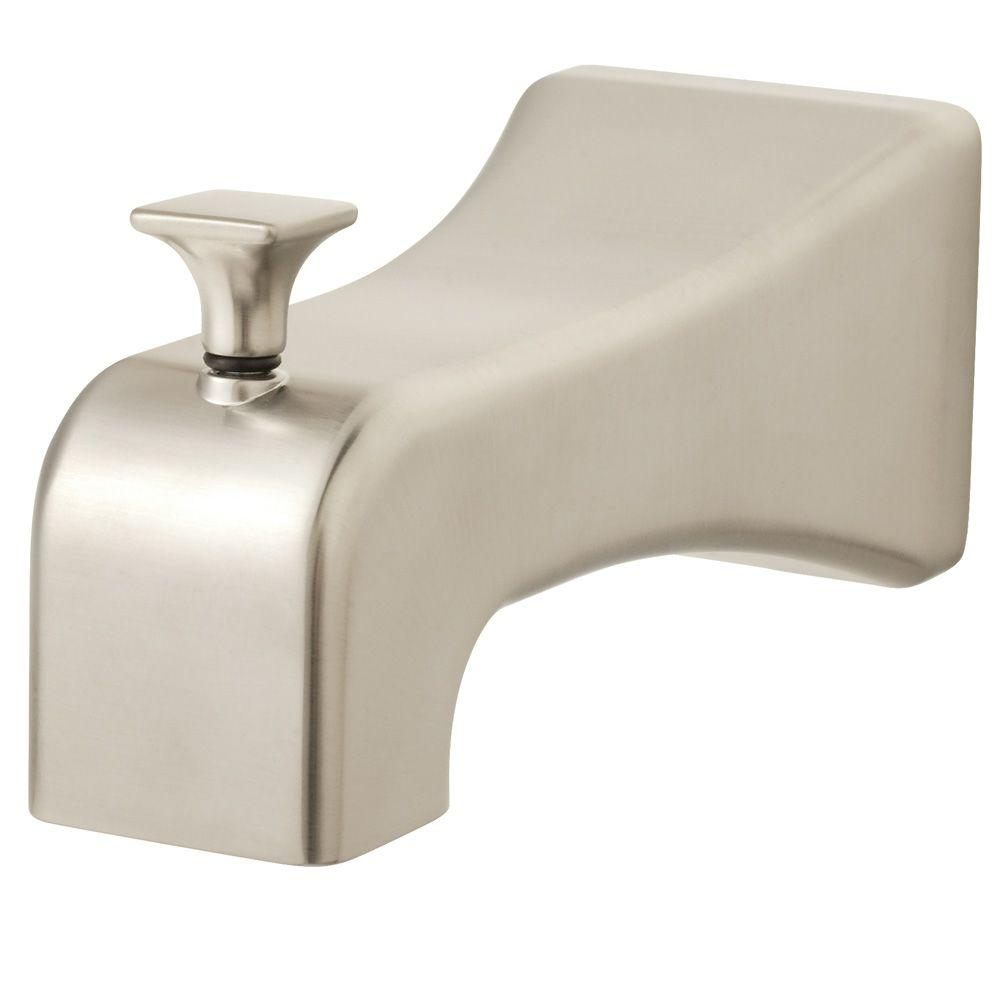 brass brushed shower jewel sf tub spouts lg series spout asp fit slip detail