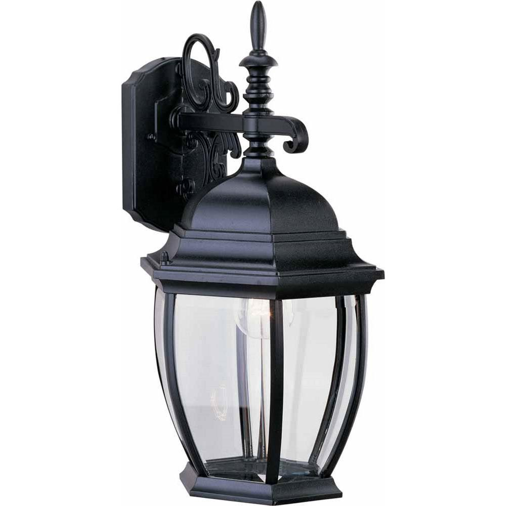 Volume Lighting 1 Light Black Outdoor Wall Sconce