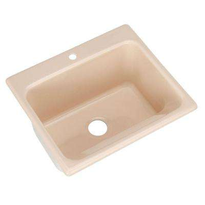 Kensington Drop-In Acrylic 25 in. 1-Hole Single Bowl Utility Sink in Desert Bloom