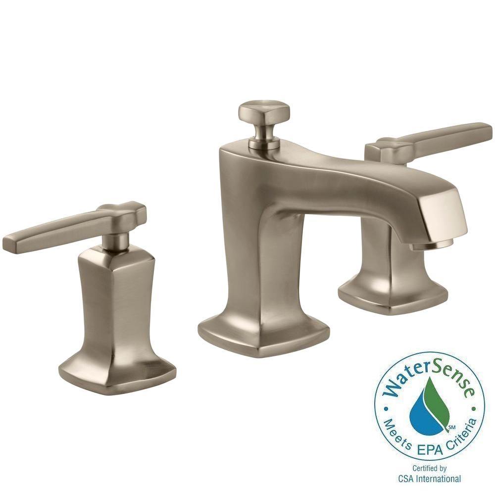 KOHLER Margaux 8 in. Widespread 2-Handle Low-Arc Water-Saving Bathroom Faucet in Vibrant Brushed Bronze