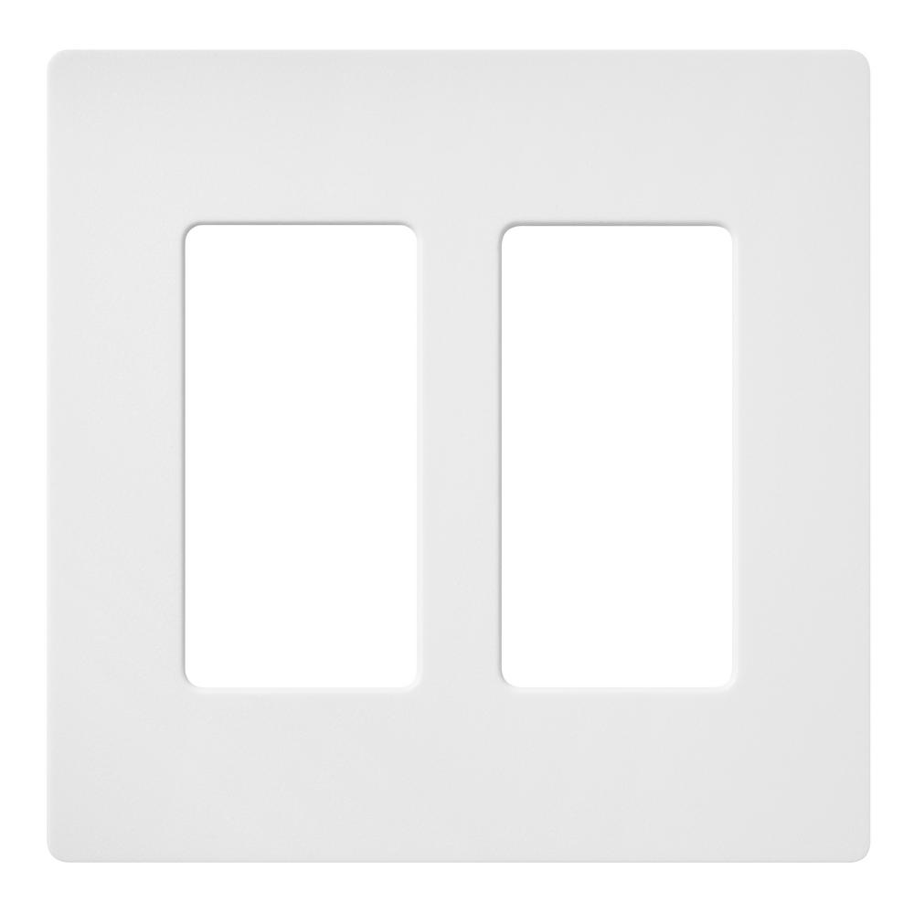 Lutron Claro 2 Gang Decorator Rocker Wallplate Matte Snow 1 Pack Sc 2 Sw The Home Depot