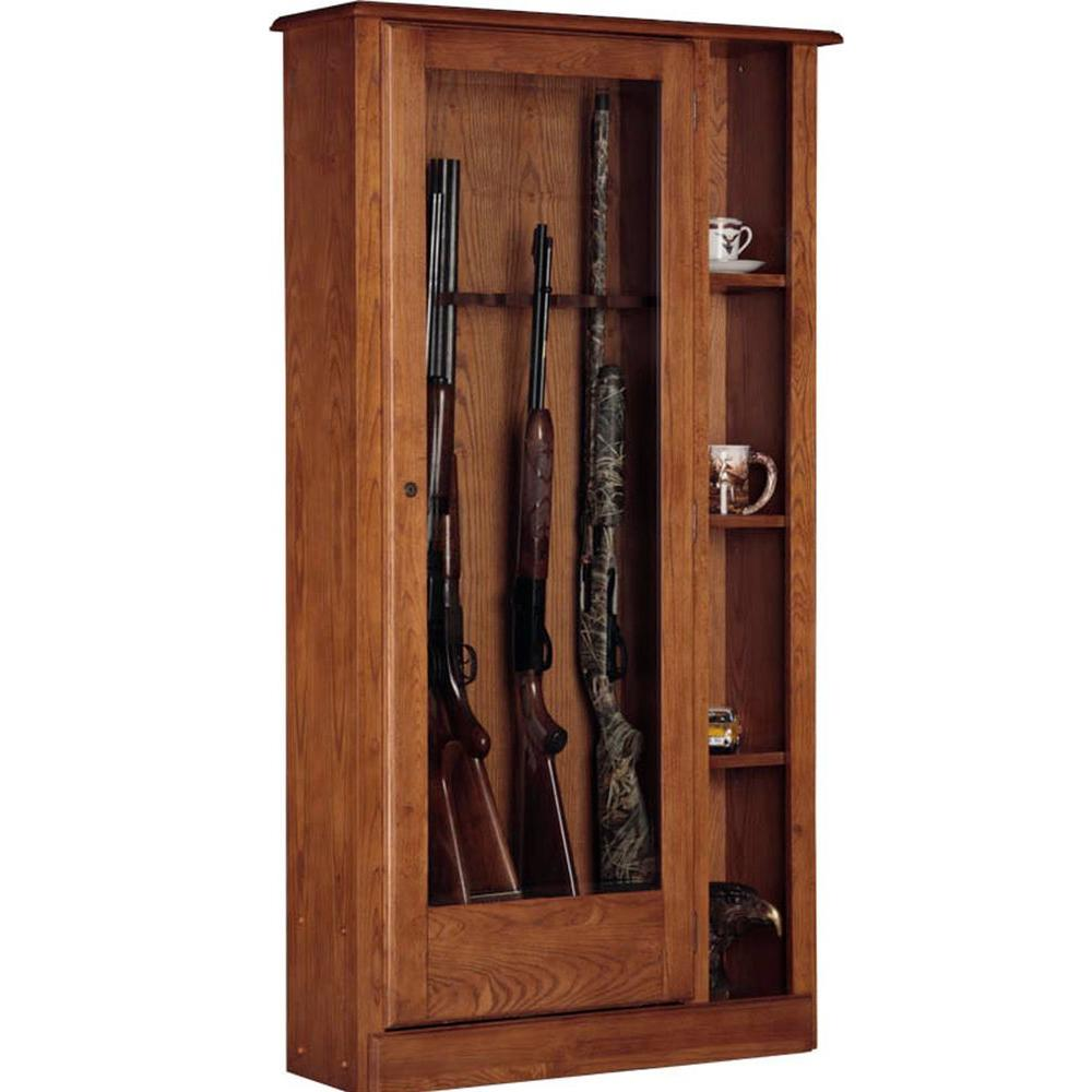 American Furniture Classics 5.51 Cu. Ft. 10 Gun Cabinet And Curio