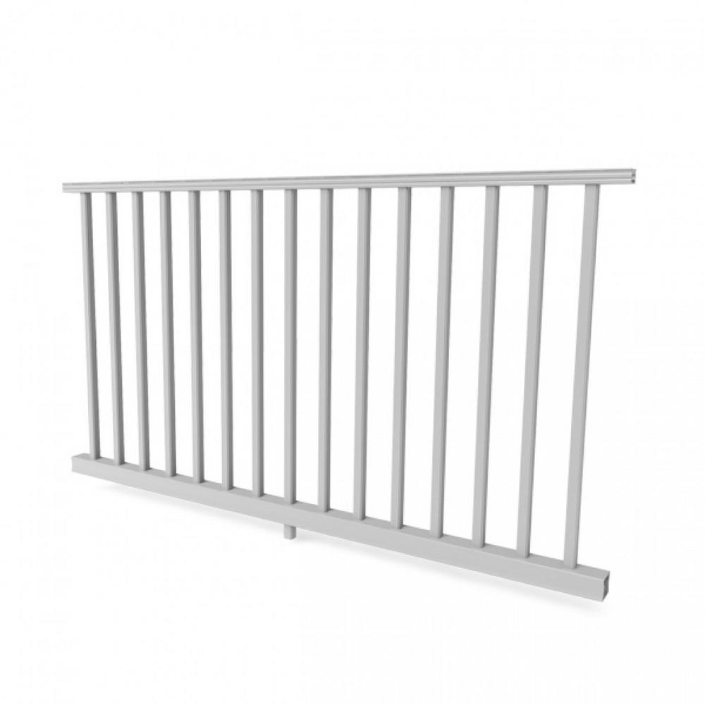 White Resalite Composite 36 in. x 8 ft.Transform Rail Kit with