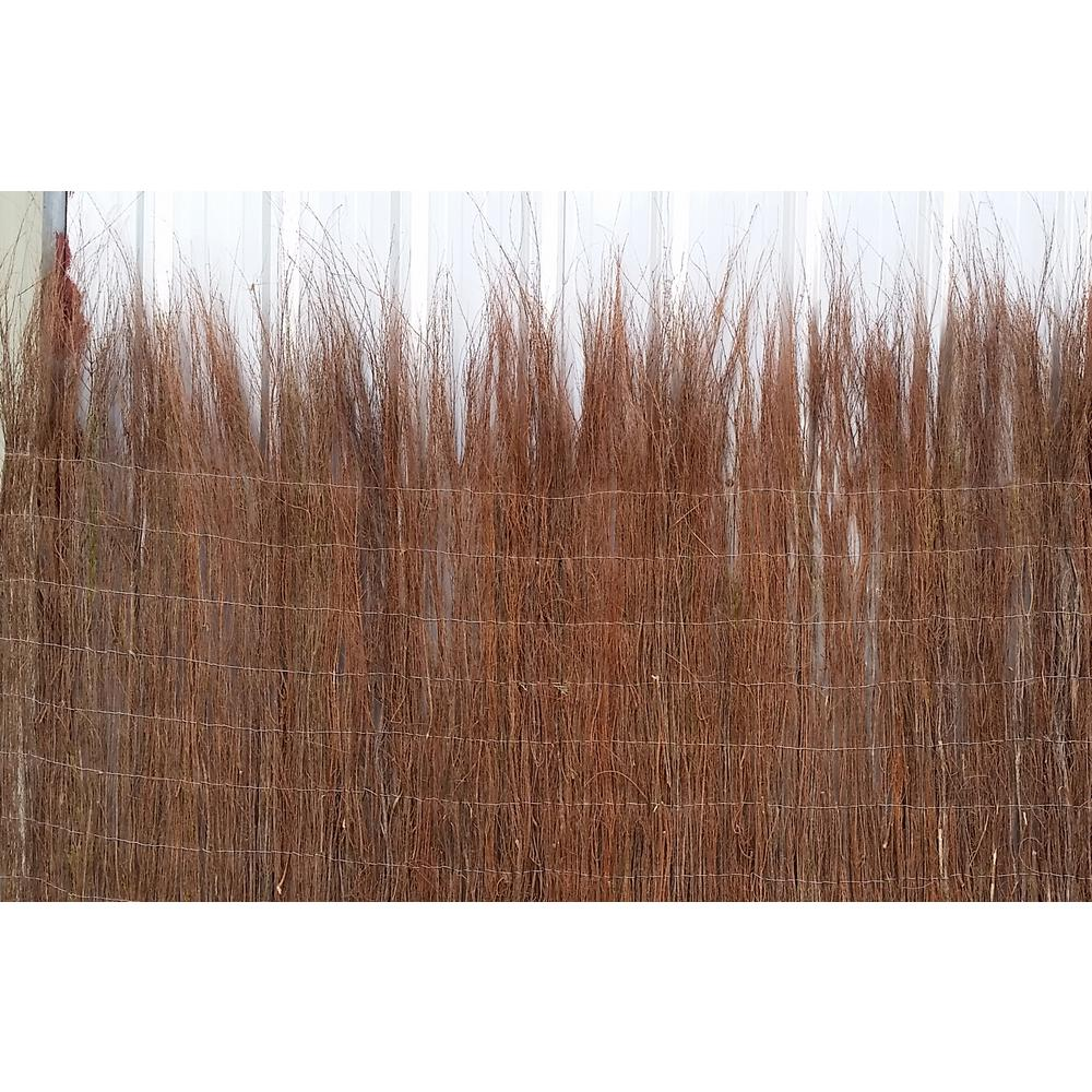Master Garden Products 42 in. H Untrimmed Natural Heather Brushwood Fence