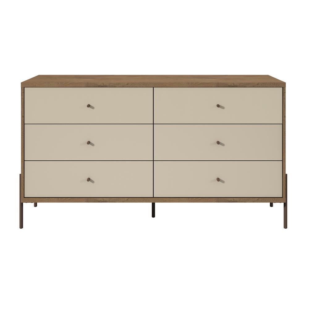 Wide Off White 6 Drawer Double Dresser 350594 The Home Depot