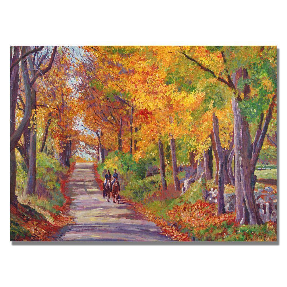 null 30 in. x 47 in. Autumn Ride Canvas Art