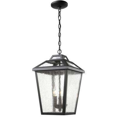 Wilkins 3-Light Black Outdoor Hanging Lantern