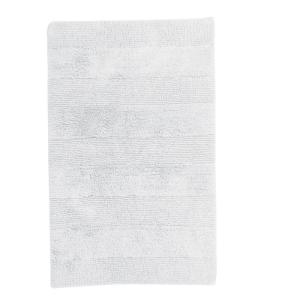 White 24 in. x 17 in. Cotton Reversible Bath Rug