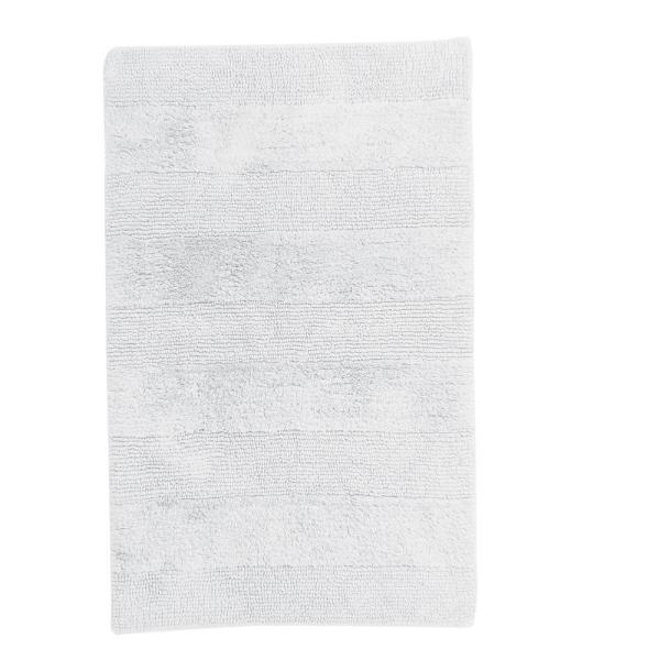 The Company Store White 24 in. x 17 in. Cotton Reversible Bath Rug