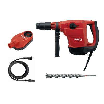 120-Volt 13 Amp Corded 1-9/16 in. SDS-Max TE 60-AVR Rotary Hammer, Dust Removal System Kit, Cord and TE-YX Drill Bit