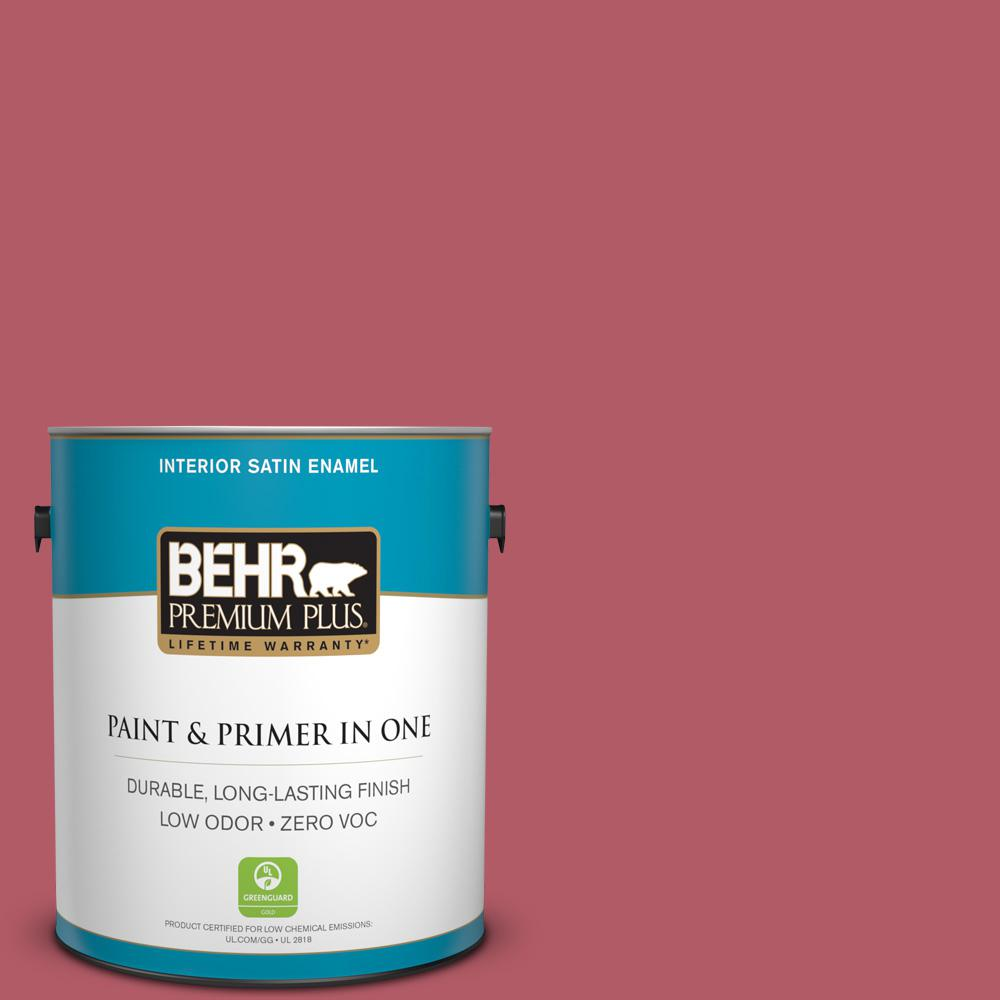 1 gal. #130D-5 Rhubarb Satin Enamel Zero VOC Interior Paint and