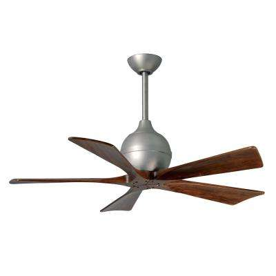 Irene 42 in. Indoor/Outdoor Brushed Nickel Ceiling Fan with Remote Control and Wall Control