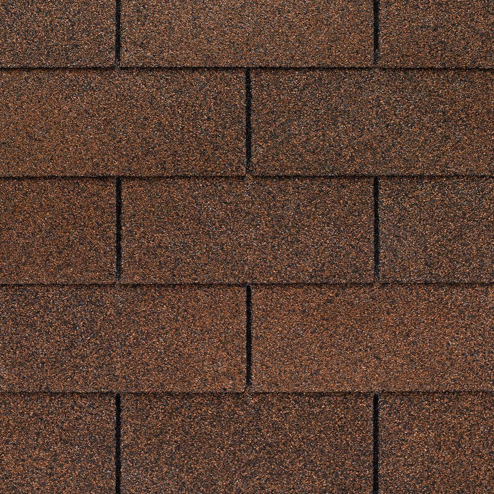 GAF Royal Sovereign Autumn Brown StainGuard 25 Year 3 Tab Shingles 3333 Sq