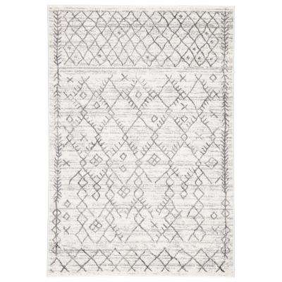Valen White 7 ft. 10 In. x 10 ft. 2 In. Trellis Rectangle Rug