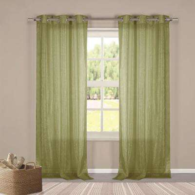 Metallico 40 in. W x 84 in. L Polyester Window Panel in Sage