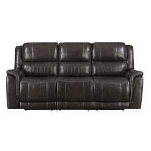 Right2Home Brown Hearst Power Reclining Sofa with Power ...