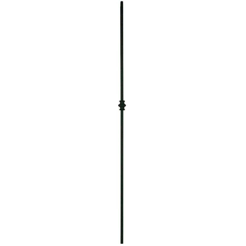 Stair Parts 44 in. x 1/2 in. Satin Black Single Knuckle Metal Baluster