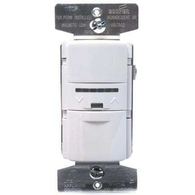 600-Watt INC/H/MLV Vacancy Sensor with Dimmer, White