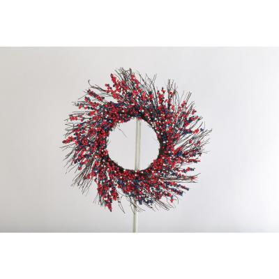 20 in. Red, White and Blue Berry Wreath