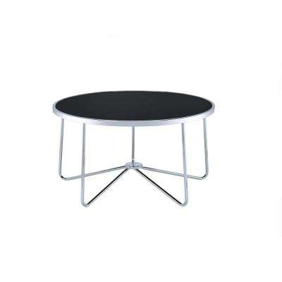 Alivia Chrome and Black Coffee Table