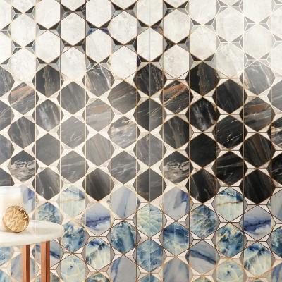 Daze Stone Geometric 24 in. x 48 in. Matte Porcelain Floor and Wall Tile (1 piece/7.75 sq. ft. / case)